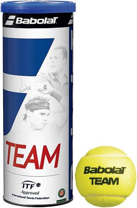 Мячи Babolat TEAM 3 BALLS  501041 - фото 19564