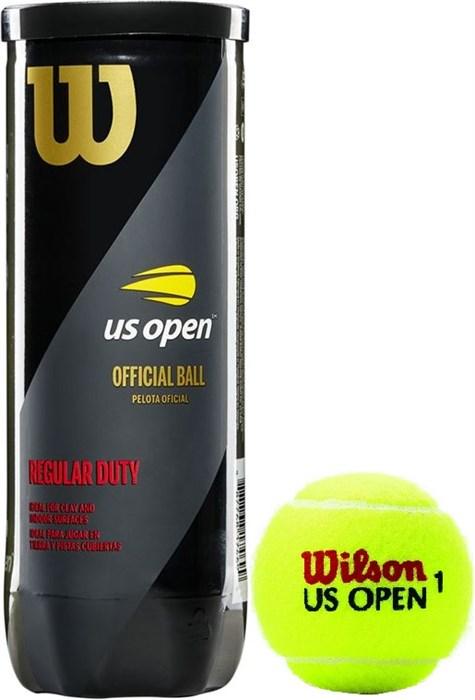 Мячи Wilson US OPEN REGULAR DUTY 3 BALLS  WRT107300 - фото 19572