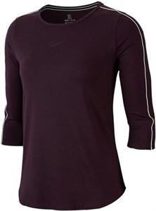 Футболка женская Nike Court 3/4 Sleeve Burgundy Ash/White  AQ7658-659  su19