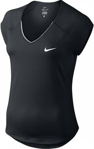 Футболка женская Nike Court Pure V Neck Black/White  728757-010  sp17
