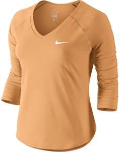 Футболка женская Nike Court Pure 3/4 Sleeve Tangerine Tint/White  728791-843  su18