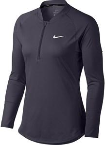 Футболка женская Nike Court Dry 1/2 Zip Gridiron/White  888170-009  fa18