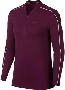 Футболка женская Nike Court Dry 1/2 Zip Bordeaux/White  939322-609  fa18