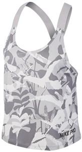 Майка женская Nike Pro Forest Camo Elastika Grey/White  CD9722-059  su19