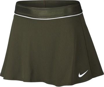 Юбка женская Nike Court Dry Flouncy Olive Canvas/White  939318-395  fa18