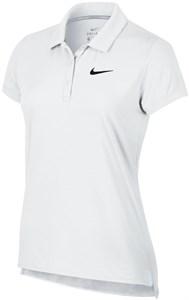 Поло женское Nike Court Pure White/Black  830421-100  sp19