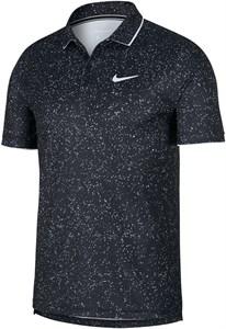 Поло мужское Nike Court Dry Graphic Black/White  AT4148-010  fa19