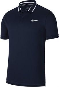 Поло мужское Nike Court Dry Pique Obsidian/White  BV1194-451  fa19