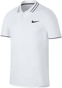 Поло мужское Nike Court Advantage White/Black  AJ8110-100  su19