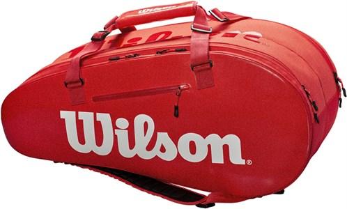 Сумка Wilson SUPER TOUR 2 COMP X9 RED  WRZ840809  sp19
