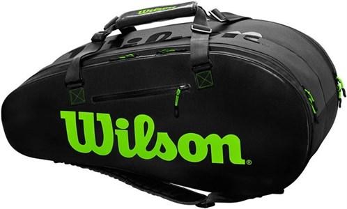 Сумка Wilson SUPER TOUR 2 COMP X9 CHARCO/GREEN  WR8004201001  fa19