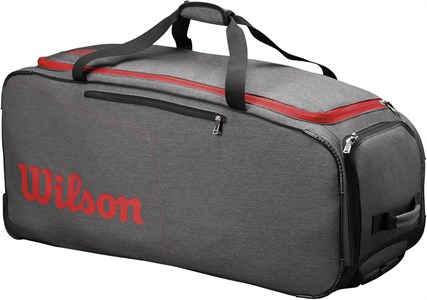 Сумка Wilson TRAVELLER Wheeled Coach Duffle Grey/Red  WRZ847894