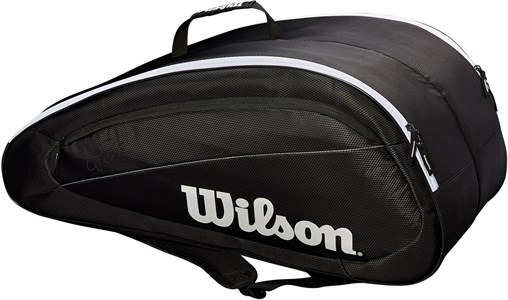 Сумка Wilson FEDERER TEAM X12 Black/White  WRZ834812