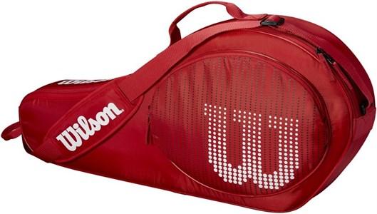 Сумка-чехол детская Wilson JUNIOR X3 RED/WHITE  WRZ647903
