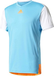 Футболка для мальчиков Adidas Melbourne Light Blue/White/Fluo Orange  BJ8207  sp17
