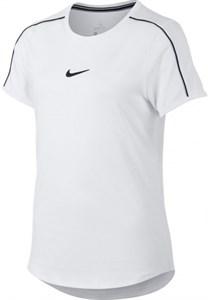 Футболка для девочек Nike Court Dry White/Black  AR2348-100  sp19