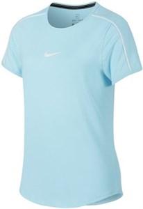Футболка для девочек Nike Court Dry Light Blue/White  AR2348-449  sp19