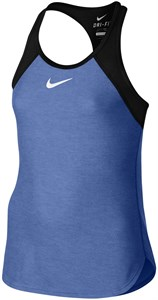 Майка для девочек Nike Court Slam Light Blue/Black  724715-486  su16