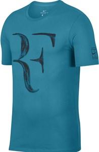 Футболка мужская Nike Court RF Neo Turquoise/Black  913466-430  su18