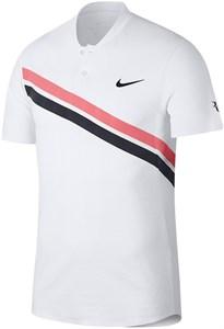 Поло мужское Nike Court Zonal Cooling RF Advantage White/Lava Glow/Black  887541-100  sp18