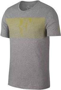 Футболка мужская Nike Court RF Grey/Yellow  889785-063  sp18
