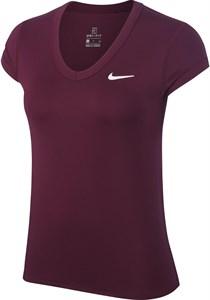 Футболка женская Nike Court Dry Bordeaux/White  CQ5364-609  fa19