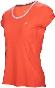 Футболка для девочек Babolat Core Flag Club Fluo Strike  3GS17011-201