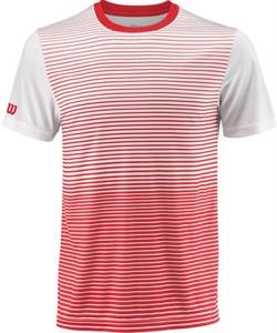 Футболка мужская Wilson Team Striped Crew Red/White  WRA769704  sp18