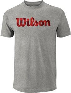 Футболка мужская Wilson Script Logo Grey/Camo Red  WRA747817  fa18