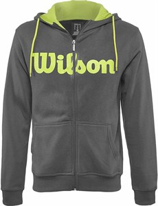 Кофта мужская Wilson Script Cotton Full Zip Grey/Yellow  WRA748001  sp17