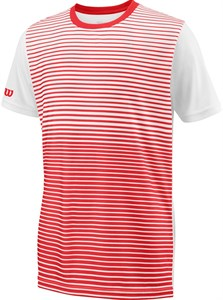 Футболка для мальчиков Wilson Team Striped Crew Red/White  WRA767204  sp18