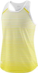 Майка для девочек Wilson Team Striped Yellow/White  WRA769805  sp18