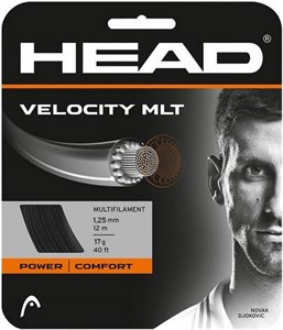 Струна теннисная Head Velocity MLT Black 1.25 (12 метров)