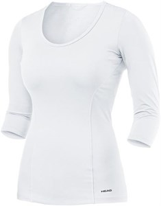 Футболка женская Head Vision 3/4 White  814477-WH su17