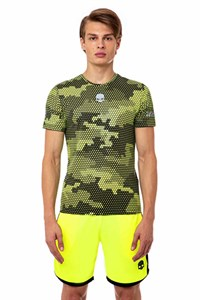 Футболка мужская Hydrogen Tech Camo Yellow/Black  T00206-D74