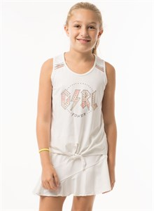 Майка для девочек Lucky in Love Girl Power Tie Knot White  T203-718110  sp19