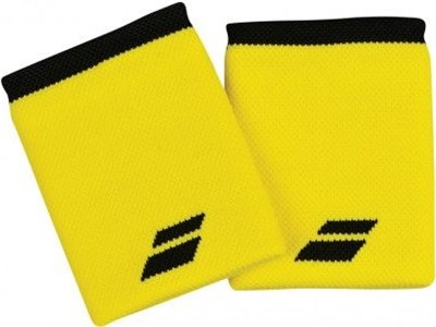 Напульсник Babolat LOGO JUMBO Yellow/Black  5US18262-7001