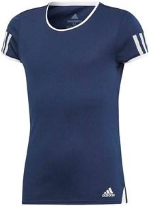 Футболка для девочек Adidas Club Navy/White  DU2466
