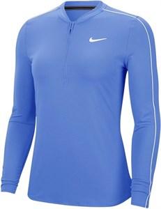 Футболка женская Nike Court Dry 1/2 Zip Royal Pulse/White  939322-478  sp20
