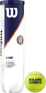 Мячи теннисные Wilson Roland Garros All Court 4 Balls  WRT116400