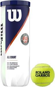 Мячи теннисные Wilson ROLAND GARROS ALL COURT 3 BALLS  WRT126400