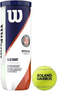 Мячи теннисные Wilson ROLAND GARROS CLAY 3 BALLS  WRT125000