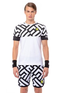 Футболка мужская Hydrogen Tech Labyrinth White/Black  T00220-077