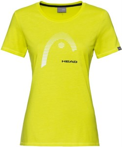 Футболка женская Head Club Lara Yellow  814529-YW  su20