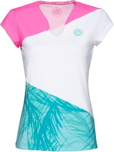 Футболка женская Bidi Badu Bella 2.0 Tech V-Neck Pink/White/Mint  W354009201-PKWHMT