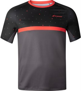 Футболка для мальчиков Babolat Compete Crew Neck Black/Poppy Red  2BF20011-2017
