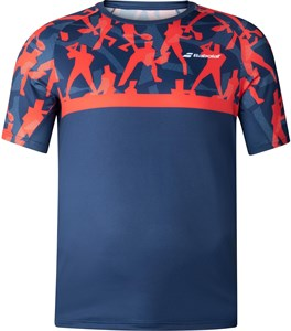 Футболка для мальчиков Babolat Compete Crew Neck Poppy Red/Estate Blue  2BF20011-5034