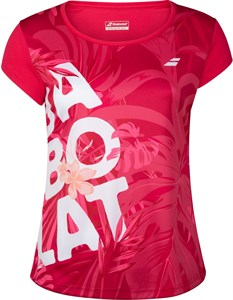 Футболка женская Babolat Exercise Graphic Red Rose  4WTA012-5028