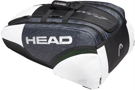 Сумка Head DJOKOVIC Speed X12 Monstercombi Black/White  283009