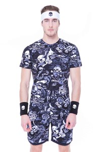 Футболка мужская Hydrogen Printed Tech Black/Grey  T00252-106